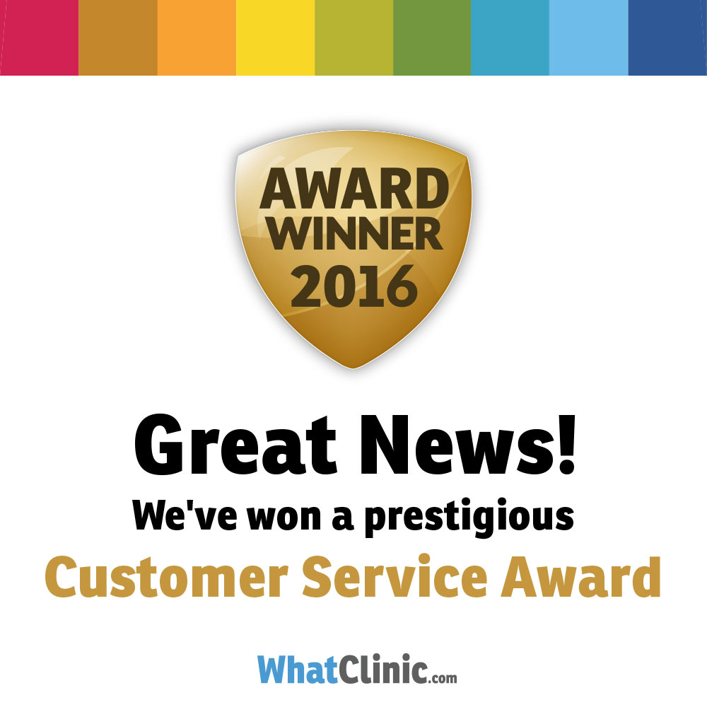 SHINE MEDICAL CLINIC WINS  WHATCLINIC.COM AWARD FOR EXCELLENT CUSTOMER SERVICE